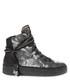 Silver-tone leather hi-top sneakers Sale - crime london Sale