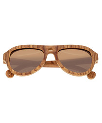 Marzo brown aviator sunglasses