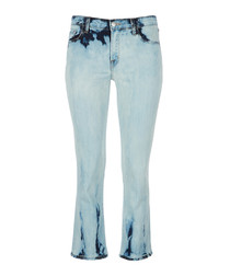 Selene mid-rise cropped bootcut jeans
