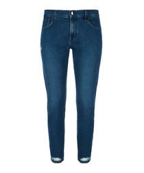 Sadey mid-rise slim straight jeans
