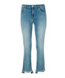 Selena mid-rise cropped bootleg jeans
