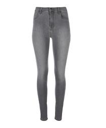 Maria pearl grey high-rise skinny jeans
