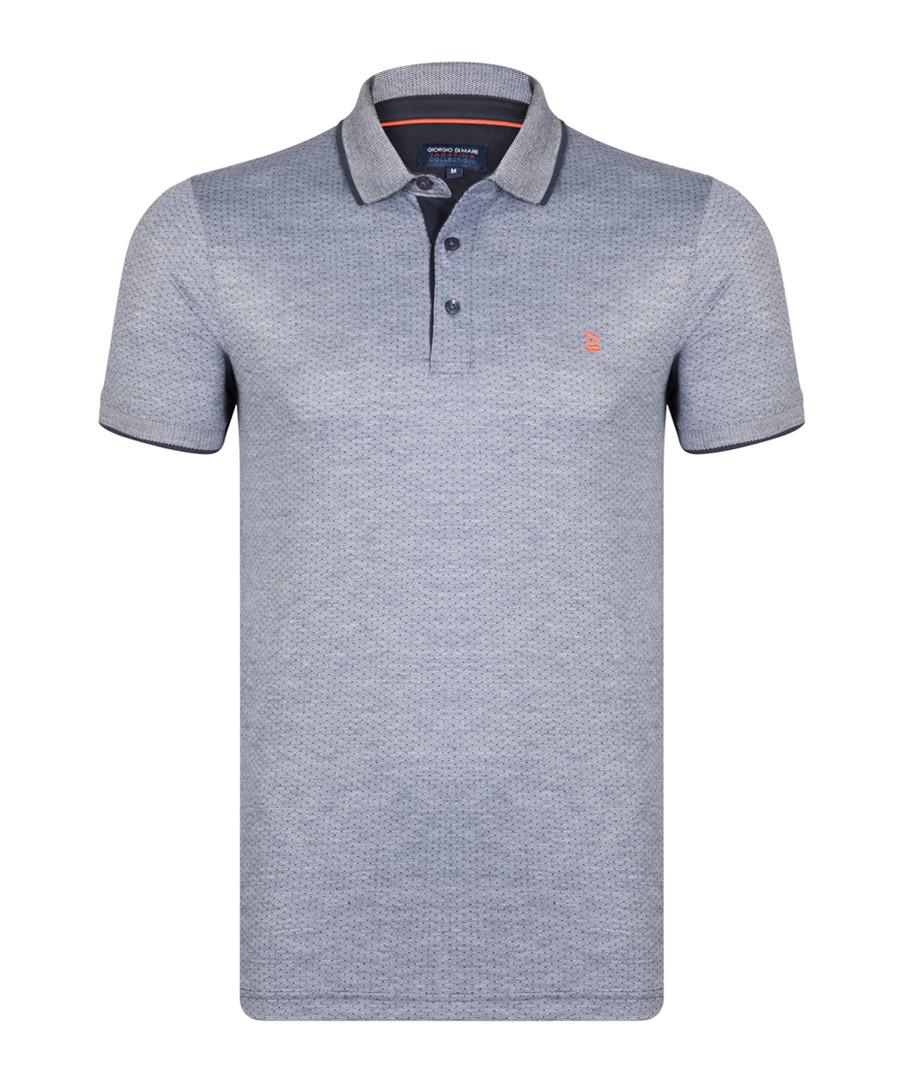 Navy cotton blend polo shirt  Sale - giorgio di mare