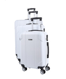3pc Lord white suitcase set