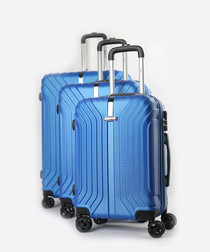3pc America blue suitcase set
