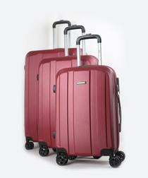 3pc Winner bordeaux suitcase set