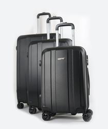 3pc Lucky black suitcase set
