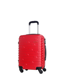 Twister red spinner suitcase 60cm
