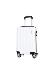 Lake white spinner suitcase 52cm