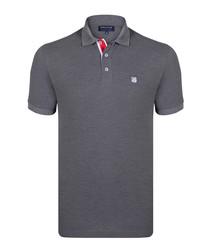 Antrmelange pure cotton polo shirt