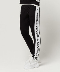 Black out logo striped joggers