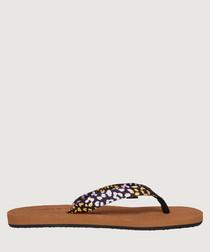 Multi-colour patterned sandals