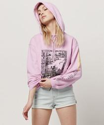 Blush pure cotton graphic hoodie