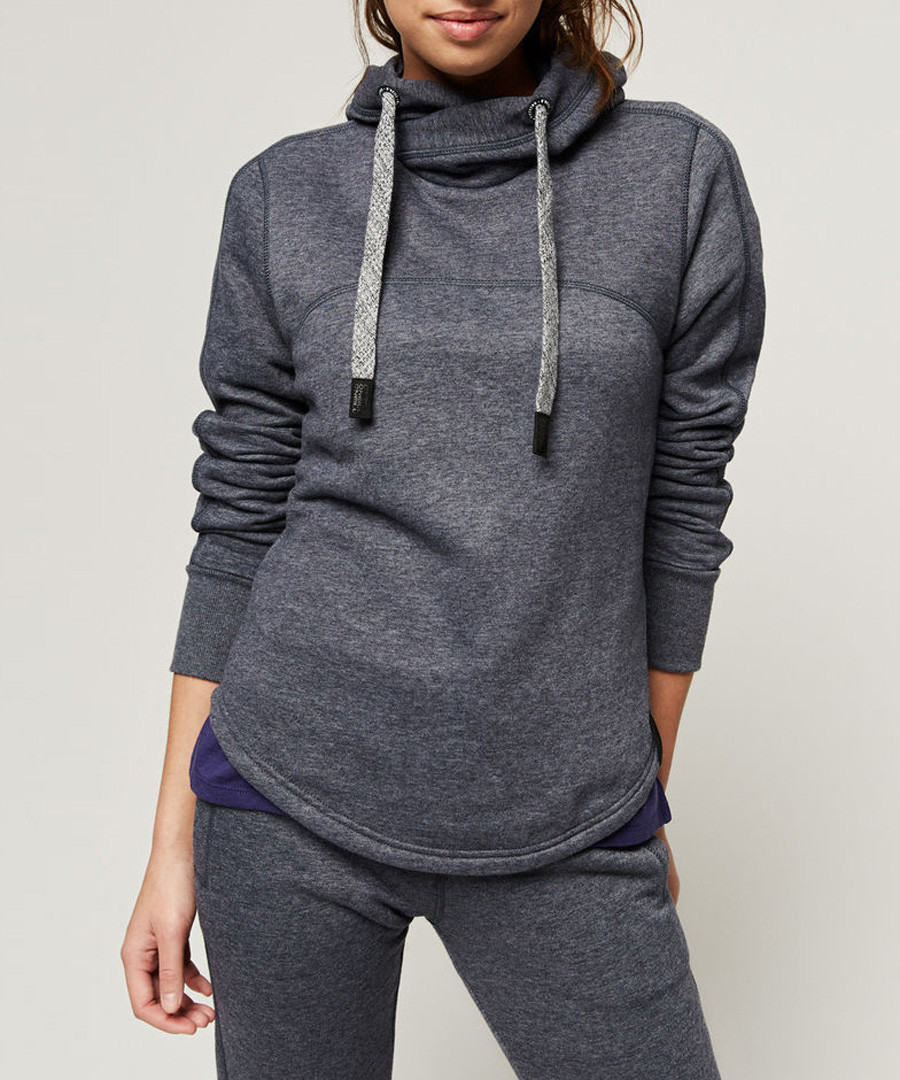 Ink blue cotton blend hoodie Sale - o neill