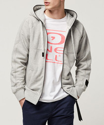 Grey cotton blend hoodie