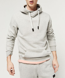 Light grey cotton blend hoodie