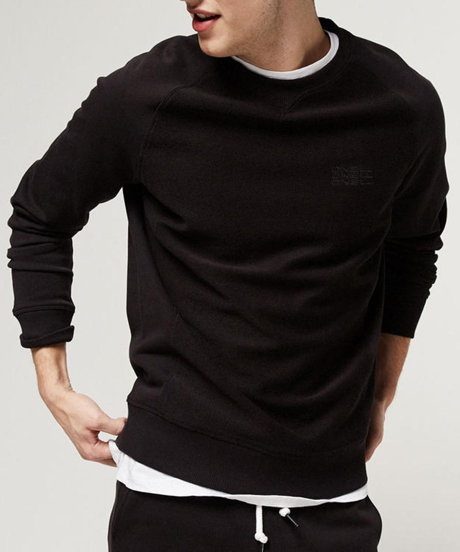 Black cotton blend crew sweatshirt Sale - o neill