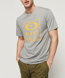 Grey cotton logo T-shirt