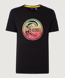 Black organic cotton graphic T-shirt