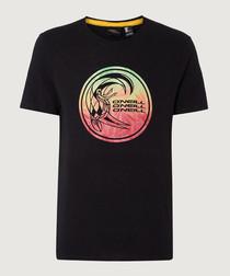 Black organic cotton graphic T-shirt