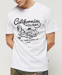 White California Holiday printed T-shirt