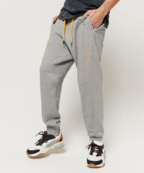 Grey cotton blend joggers