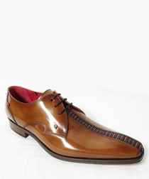 Honey leather lace-up shoes
