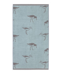 Green Oyster Catcher cotton hand towel