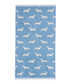Blue Dachshund cotton hand towel Sale - Emily Bond Sale