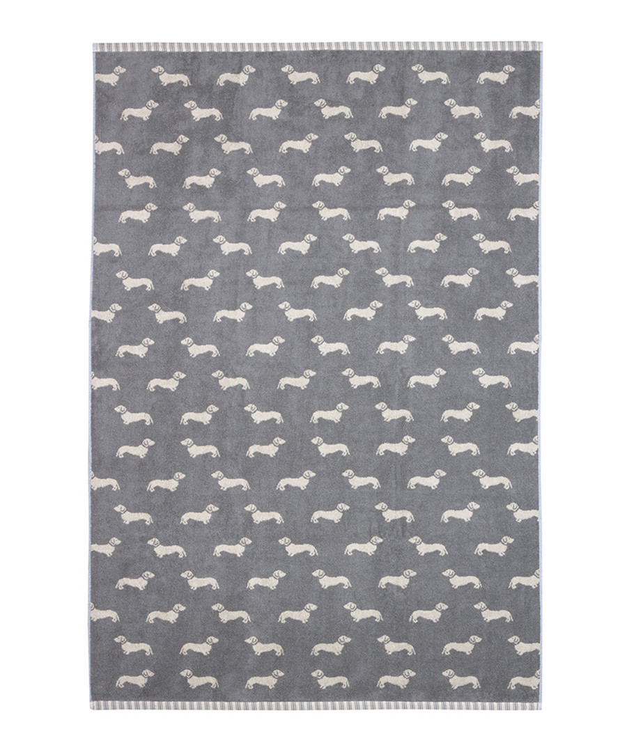 Grey Dachshund cotton sheet towel Sale - Emily Bond