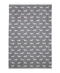 Grey Dachshund cotton sheet towel