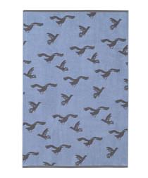 Blue Seagulls cotton sheet towel