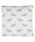 Grey Dachshund knitted cotton cushion Sale - Emily Bond Sale