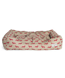 Red Dachshund medium dog bed