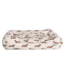 Brown Dachshund medium dog bed