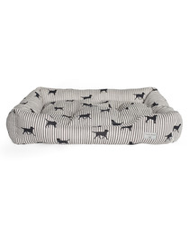 Striped Labrador large dog bed