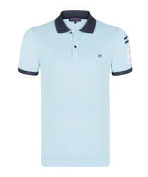 Sky cotton short sleeve polo shirt