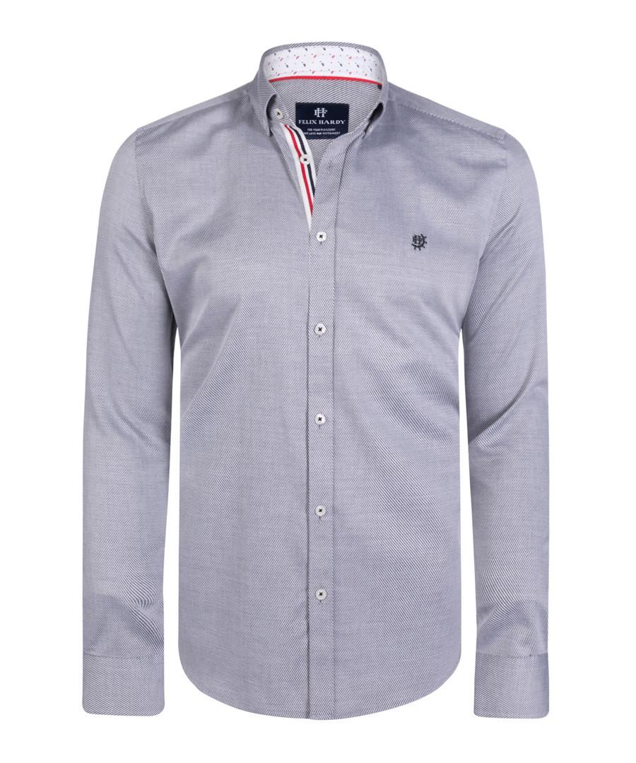 Grey pure cotton long sleeve shirt Sale - felix hardy