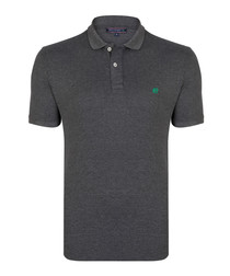 Anthracite short sleeve polo shirt
