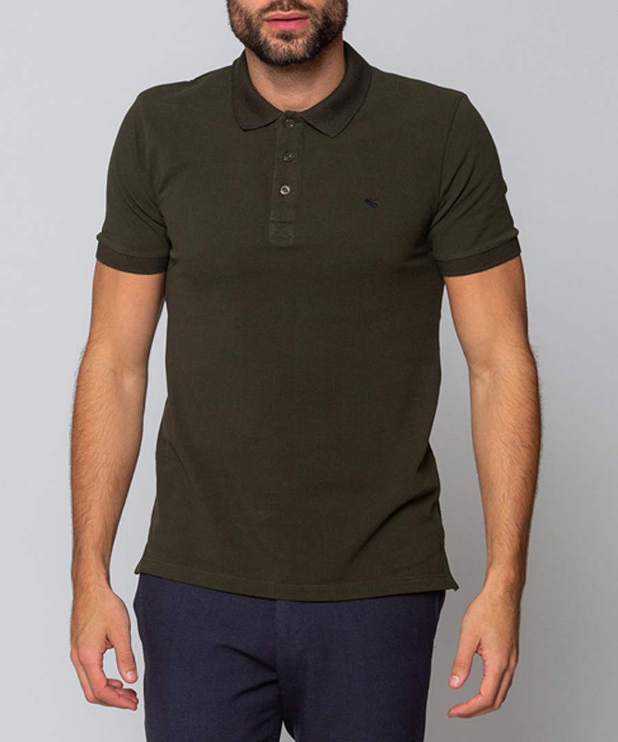 Hinchley khaki polo shirt Sale - goodwin smith
