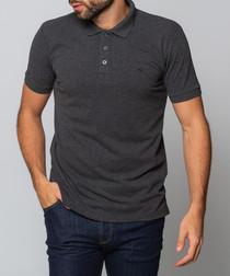 Hinchley charcoal polo shirt