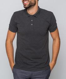 Hewitt charcoal polo shirt
