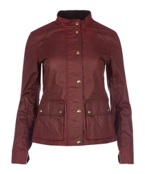 Longham red waxed cotton jacket