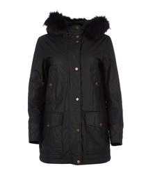 Clyde black fur trim hooded parka