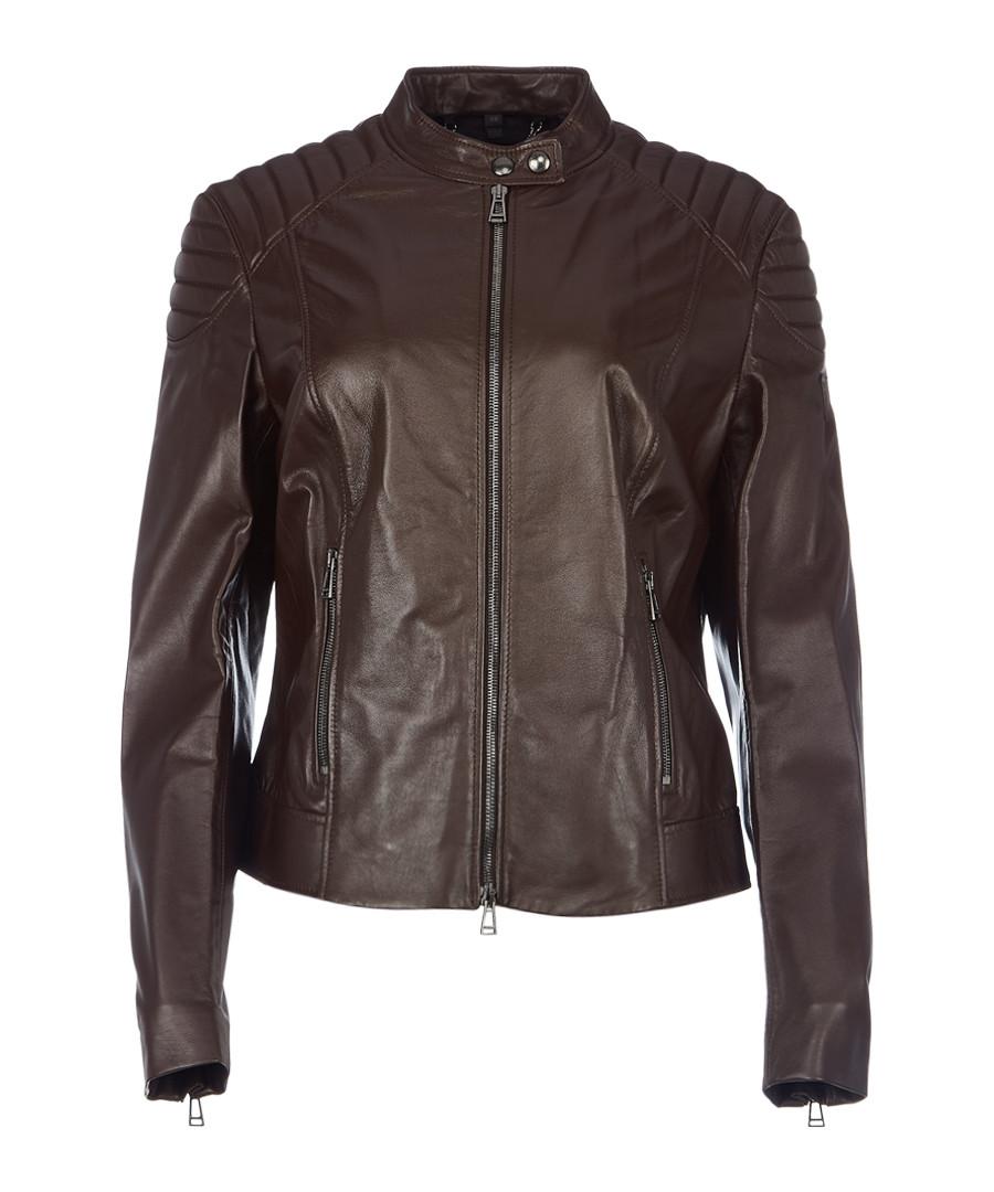 Mollison hickory leather jacket Sale - belstaff