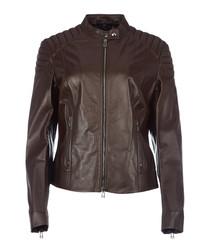 Mollison hickory leather jacket