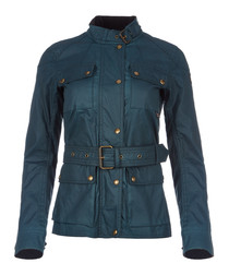Roadmaster 2.0 teal waxed cotton jacket