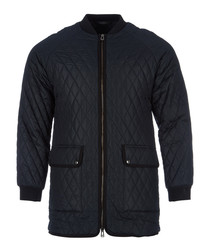 Rackham navy technical quilted parka