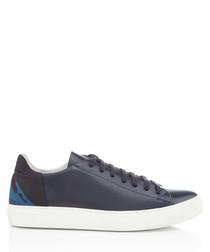 BXS navy & dark indigo leather sneakers