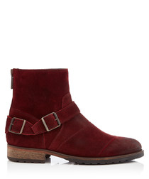 Trialmaster burnished red leather boots